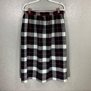 Vintage JC Penney Fashions Plaid Skirt Size 16